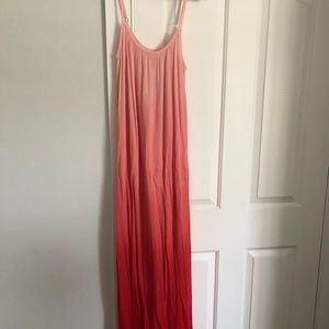 Splendid ombré coral maxi dress